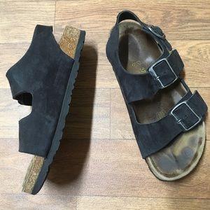 Black Milano Suede Style Birkenstocks